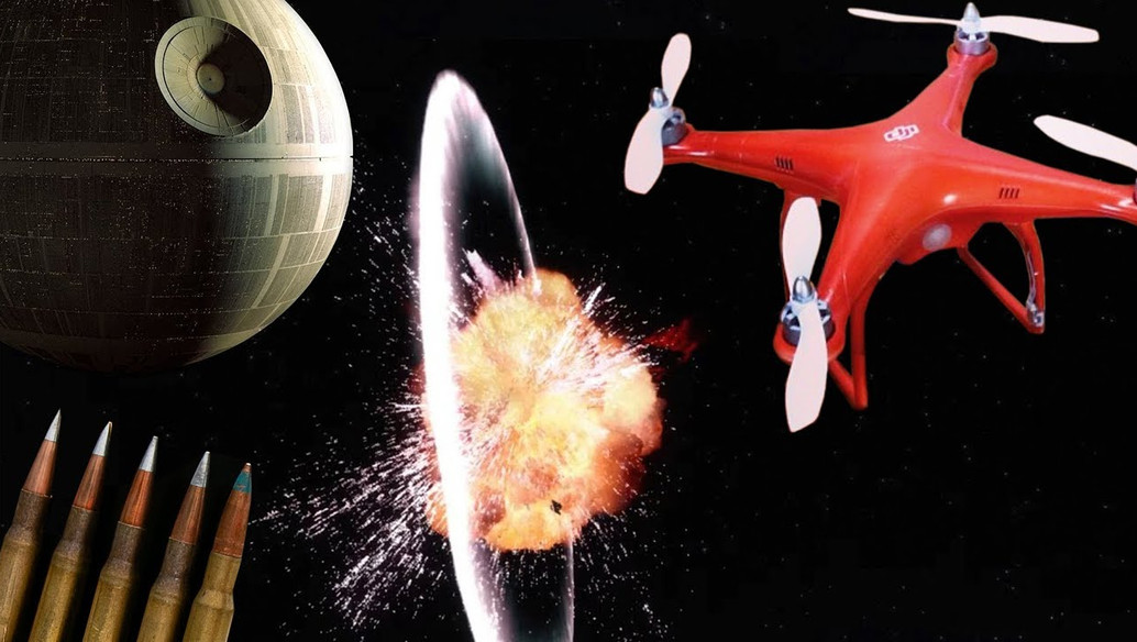 Blowing up a Drone like the Death Star in Super Slow Mo