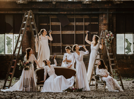 7 brides, 1 party