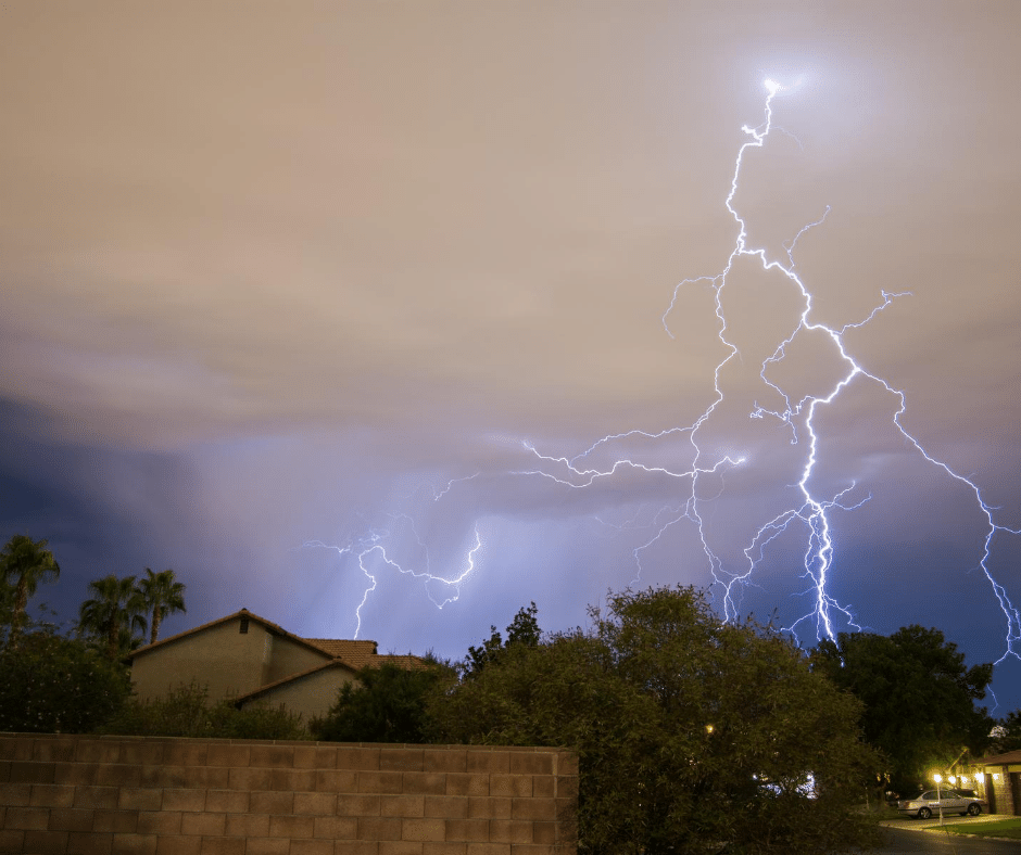 lightning near homes