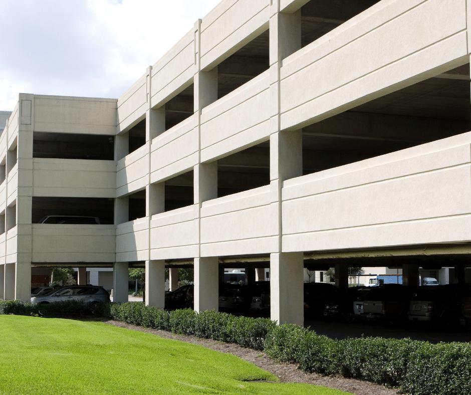 exterior of a parking garage