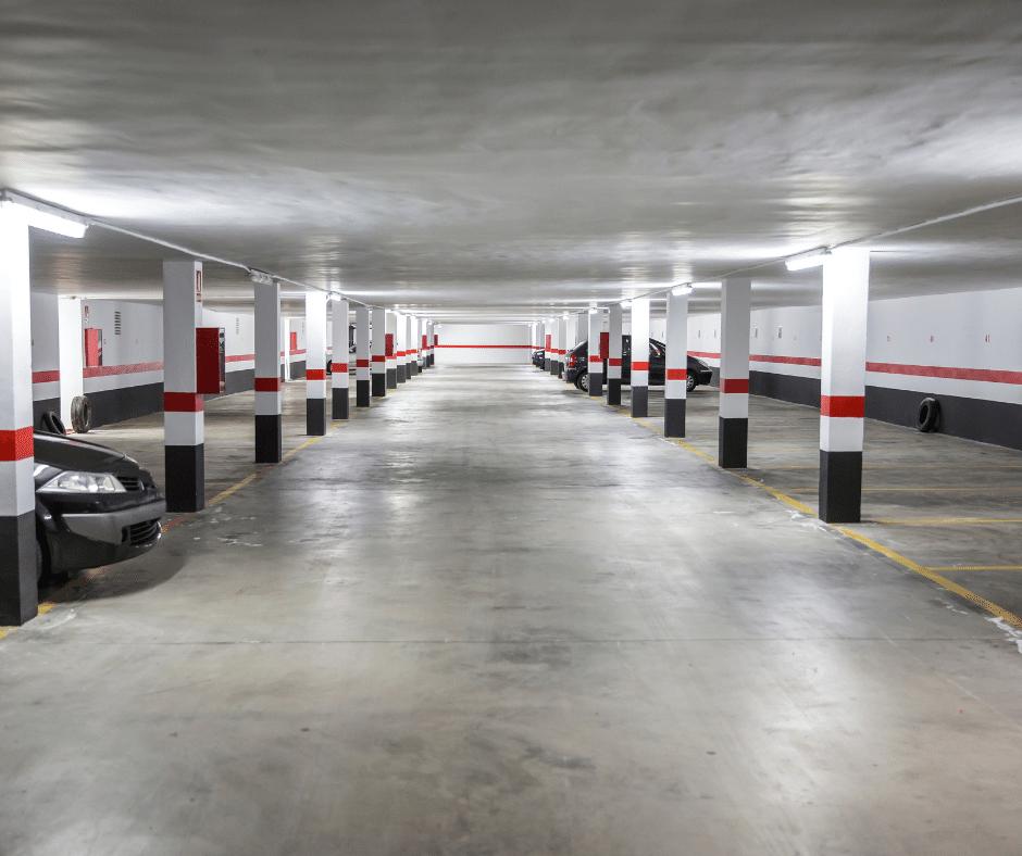 almost empty car park