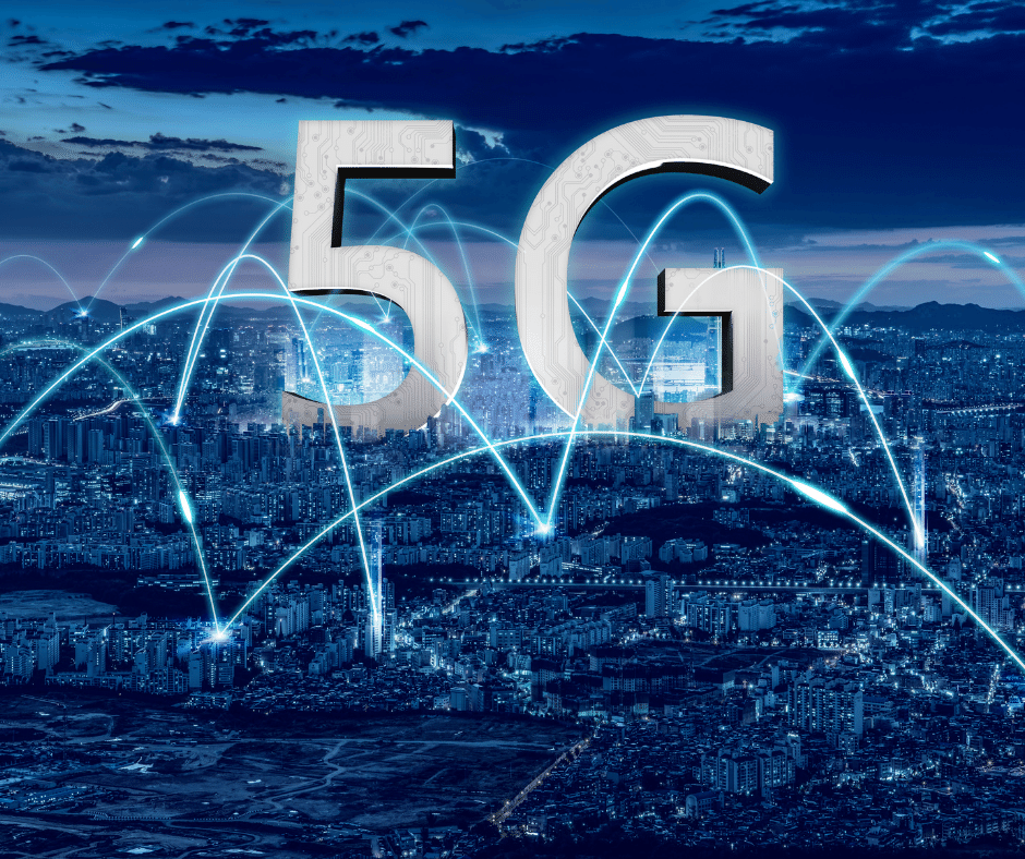 5G over a city