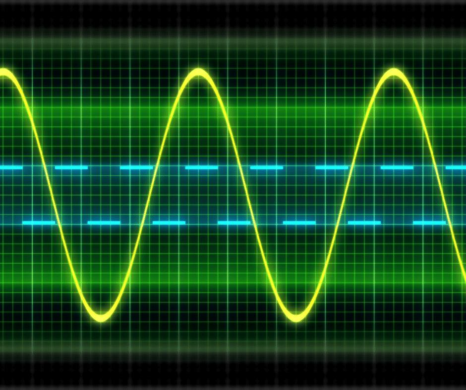 neon sound waves