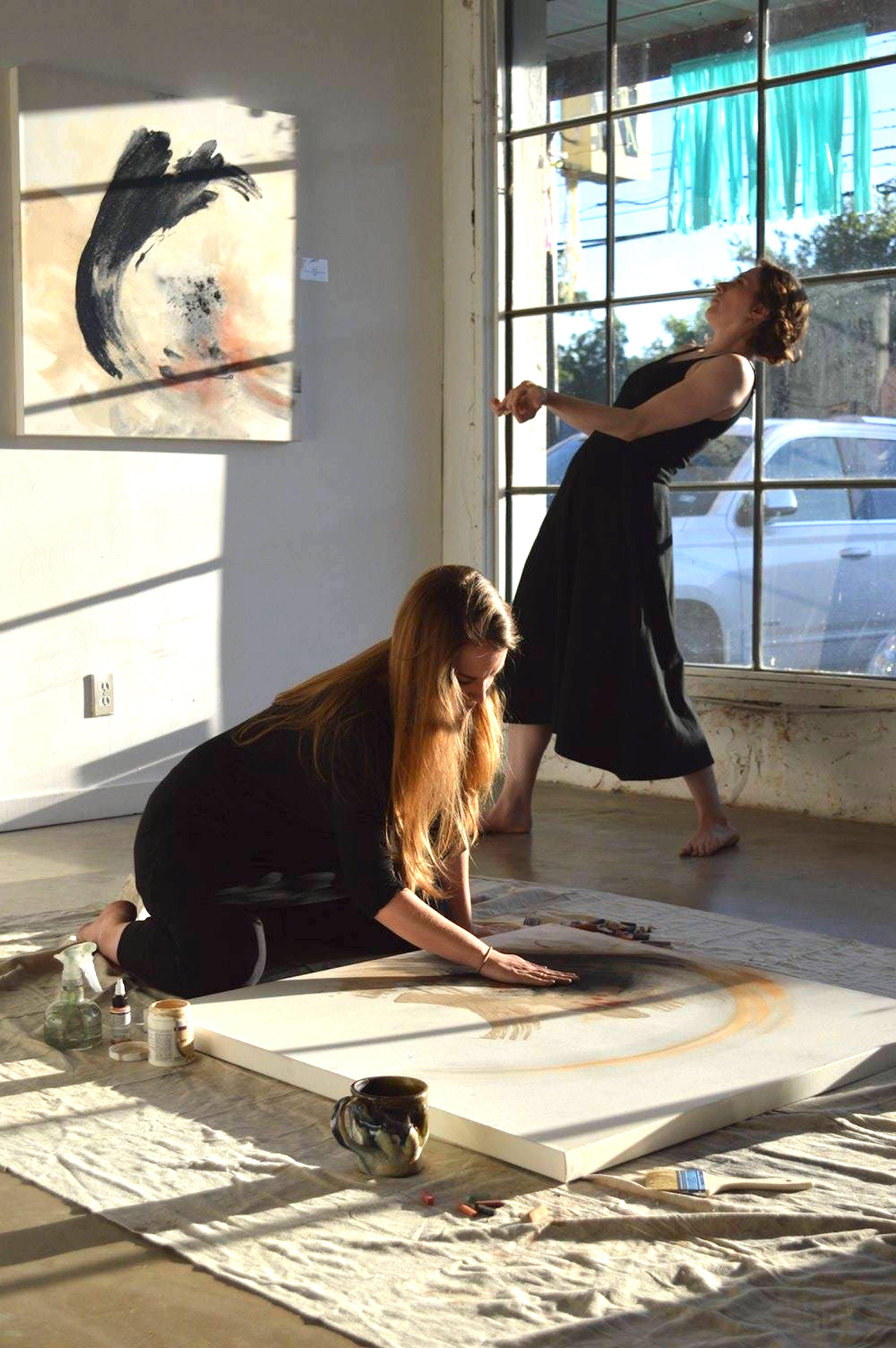 painting:dance performance