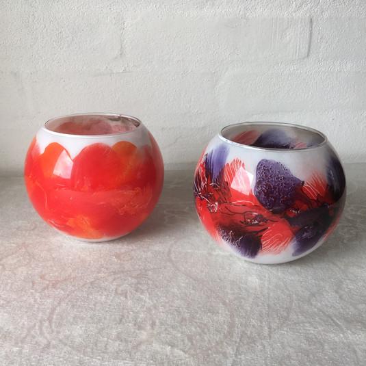2 glasbowle 12 cm om maven
