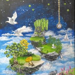 Dagdrømme med sæler, 60 x 80 cm - Privateje