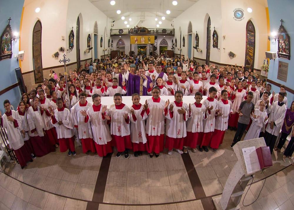 Santa Missa da chegada da Romaria dos Coroinhas no Santuário