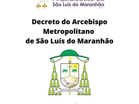 Arquidiocese publica novo decreto