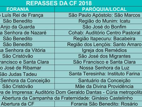 Repasses da CF 2018