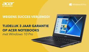 Actie! Profiteer nu van 3 jaar garantie op Acer Notebooks
