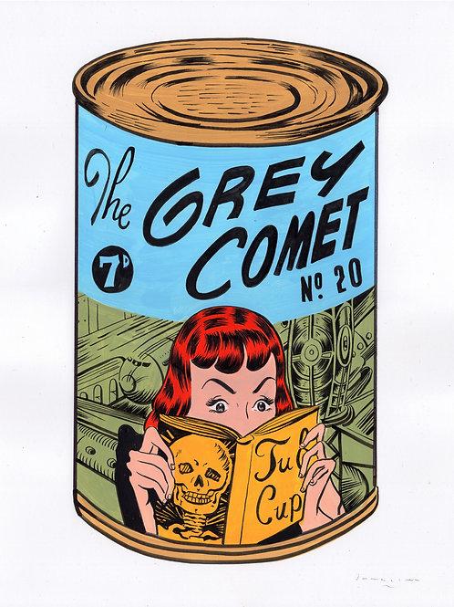 The Grey Comet - Green & Blue