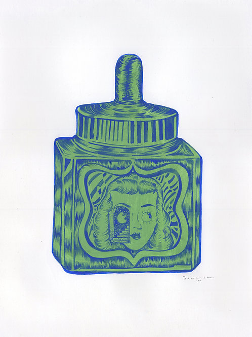 Stella Ink Bottle Green