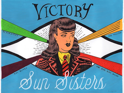 Sun Sisters Victory (painted)