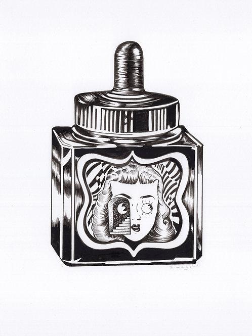 Stella Ink Bottle Black