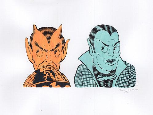 Vampire Dotty & Devil Rolly