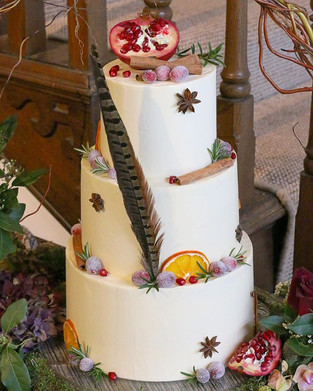 An enchanting winter woodland cake for A