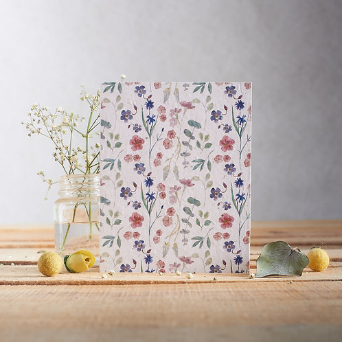Plantable Greetings Card - Floral Mix