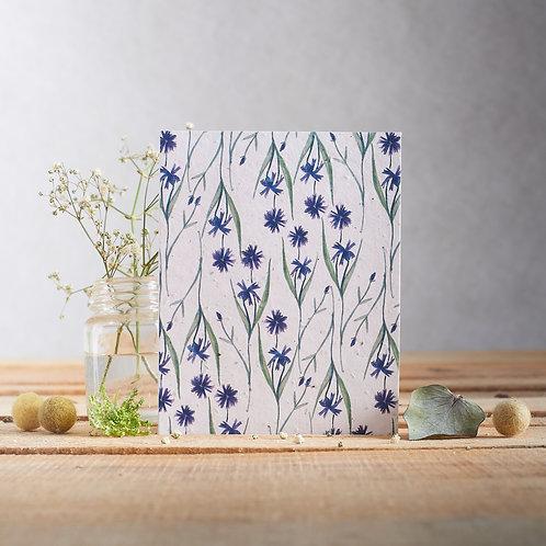 Plantable Greetings Card - Cornflowers