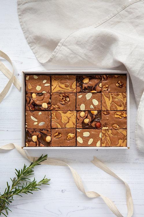 Chocolate Brownie Box - Nut Selection