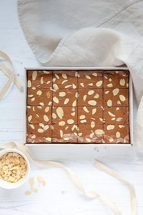 Gluten Free Chocolate Brownie Box - Almond