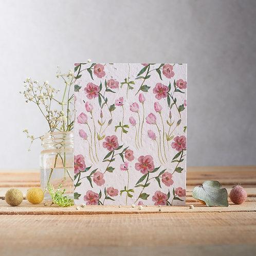 Plantable Greetings Card - Rose & Lisianthus