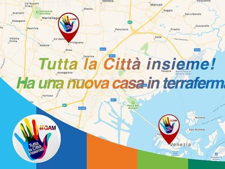 """""""Tutta la Città insieme!"""" apre la sede in terraferma e prende il via """"In Comune con le tue idee""""."""