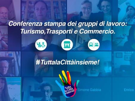 Conferenza stampa di presentazione dei gruppi di lavoro turismo, trasporti e commercio.