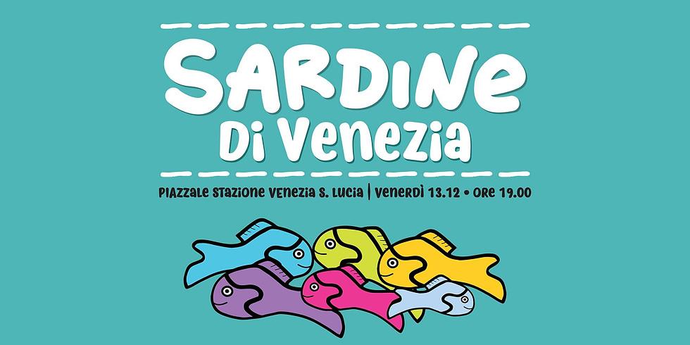 6000 Sardine flash mob a Venezia