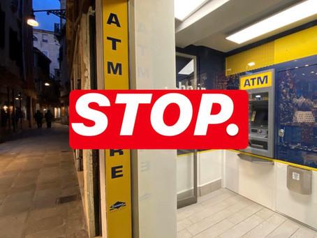 🚫 STOP agli sportelli automatici privati!