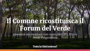 Il Comune ricostituisca il Forum del Verde: Tutta la Città insieme! presenta una mozione