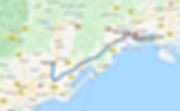 Trajet Pézenas vers Aéroport Montpellier Méditerranée