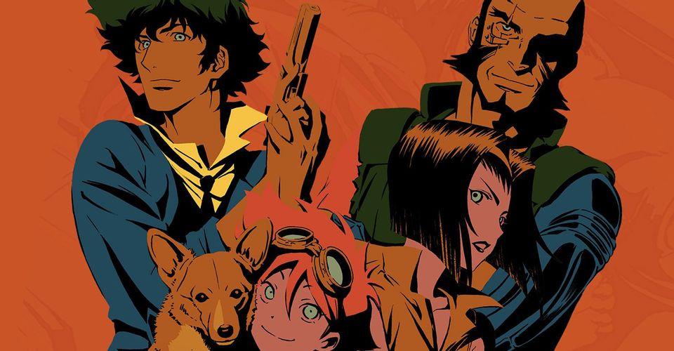 A imagem mostra o elenco da série de animação da Netflix, Cowboy Bebop