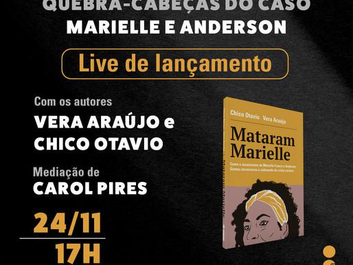 Intrínseca anuncia live de lançamento de 'Mataram Marielle'