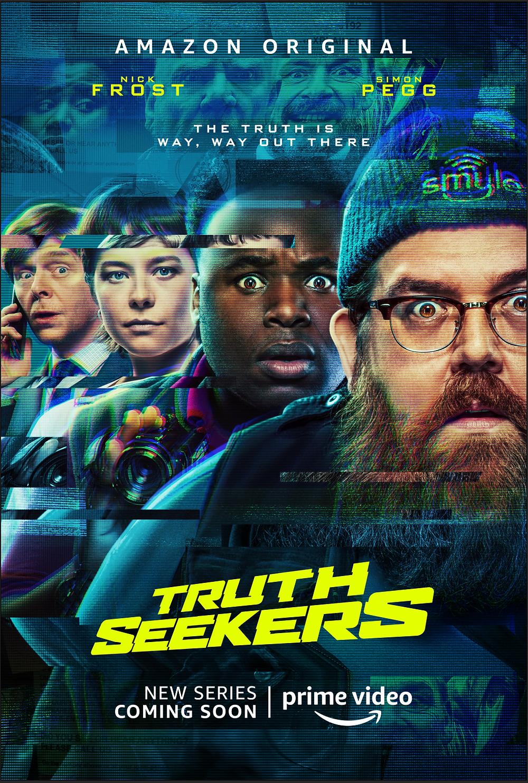 A foto mostra os protagonistas da nova série de comédia Truth Seekers
