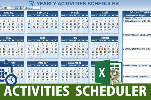 Yearly Activity Scheduler