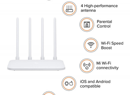 Smart Router, 300 Mbps speed with 4 high-Performance Antenna & App Control