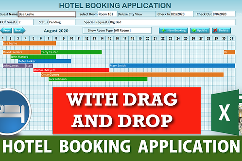 Hotel Booking Application in Excel