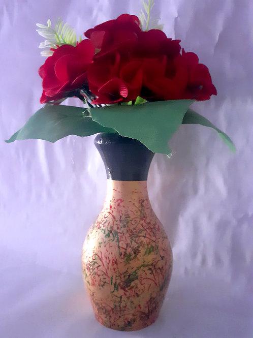 Red Flower Golden WPot