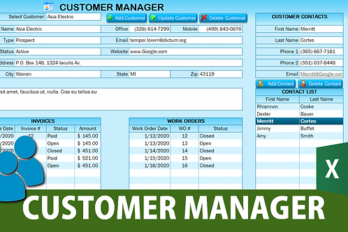 Customer Manger Application
