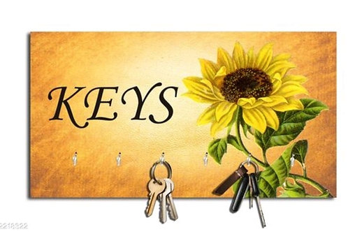 Sunflowers Keys Wall Key Holder