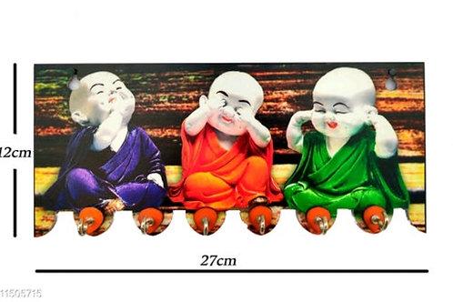 3 Buddha Wall Key Holder