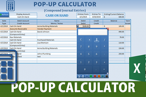 Dynamic Pop-Up Calculator