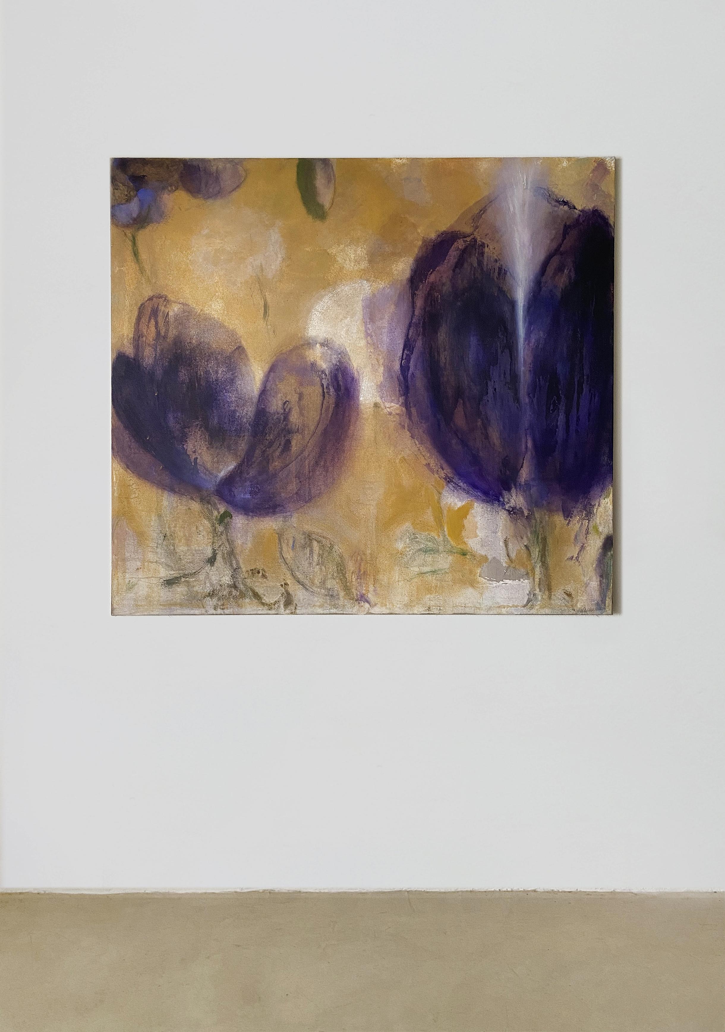 Violett flowers 120/130cm