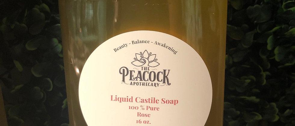 Rose Castile Soap 16 oz.