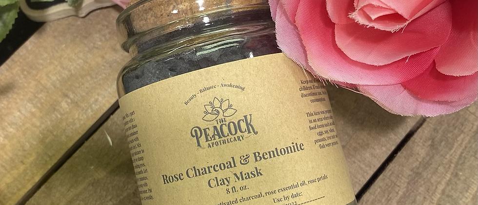 Rose Charcoal & Bentonite Clay Mask