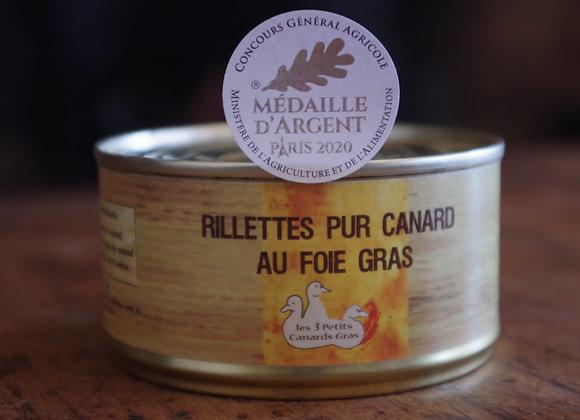 Rillettes au foie gras 180g - Médaille d'argent