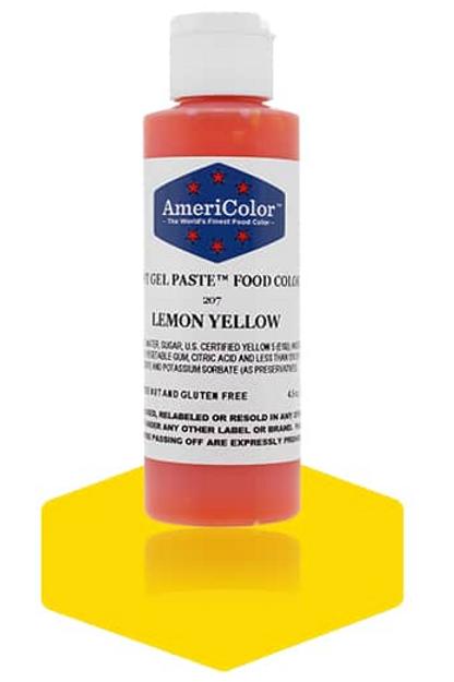 Colorante en gel suave lemon yellow 4.5onz