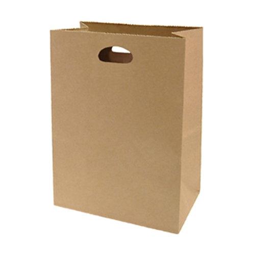 Bolsa papel kraft con agarradero reforzado 29.5 x 21.5 x 13.5cms - 100 unidades