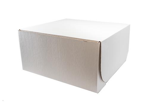 "Caja para dulce blanca 8x8x4"""