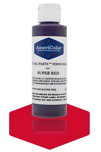 Colorante en gel suave super red 4.5onz